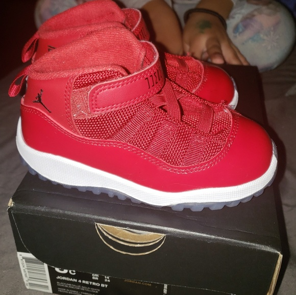 new concept 4252c bf464 Toddler Retro Jordan 11 Red